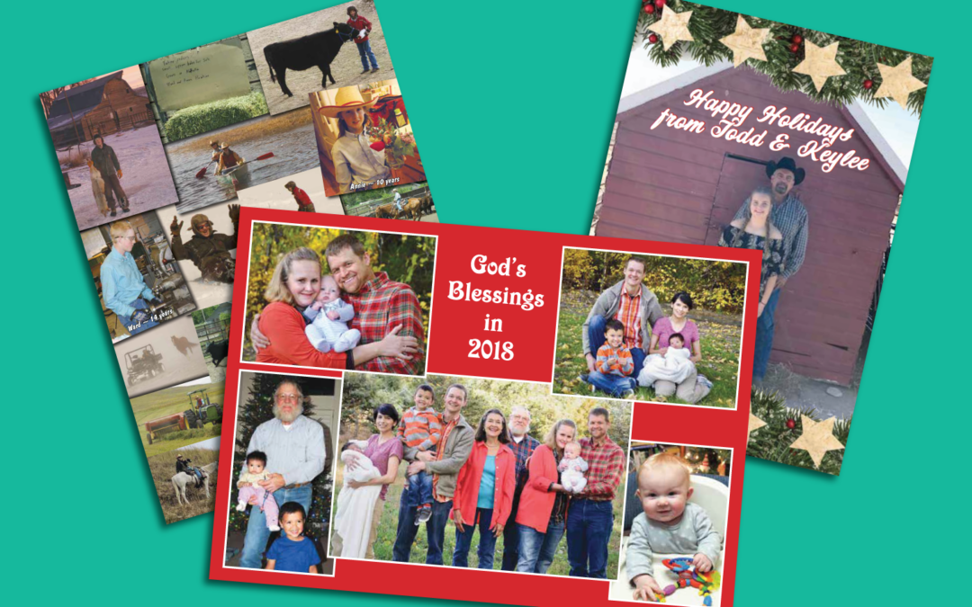 Send Season's Greetings with Custom Christmas Letterhead and Postcards